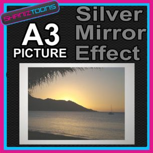 MAGNETIC ISLAND SUNSET ALUMINIUM PRINTED PICTURE SPECIAL EFFECT PRINT NOT CANVAS